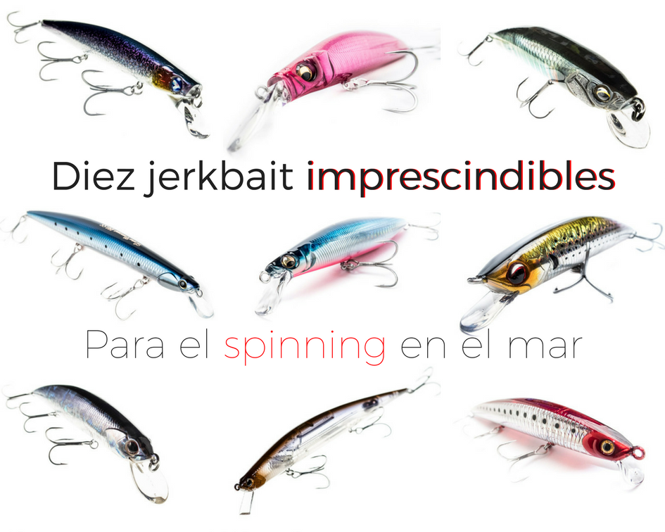 Diez jerkbait interesantes para el spinning en el mar